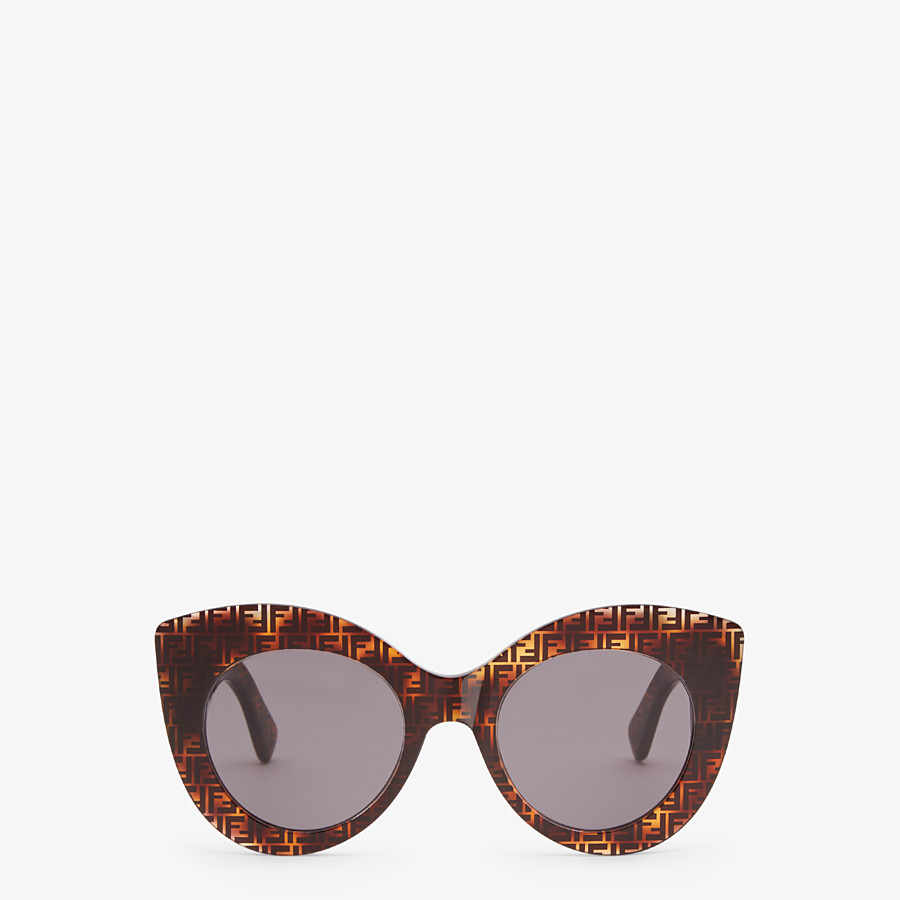 FENDI F IS FENDI - Havana FF sunglasses - view 1 detail
