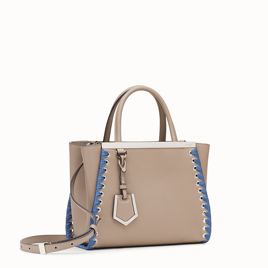 FENDI PETITE 2JOURS - Beige leather bag - view 2 detail