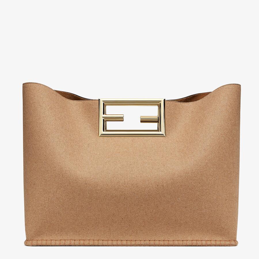 FENDI FENDI WAY LARGE - Beige flannel bag - view 4 detail