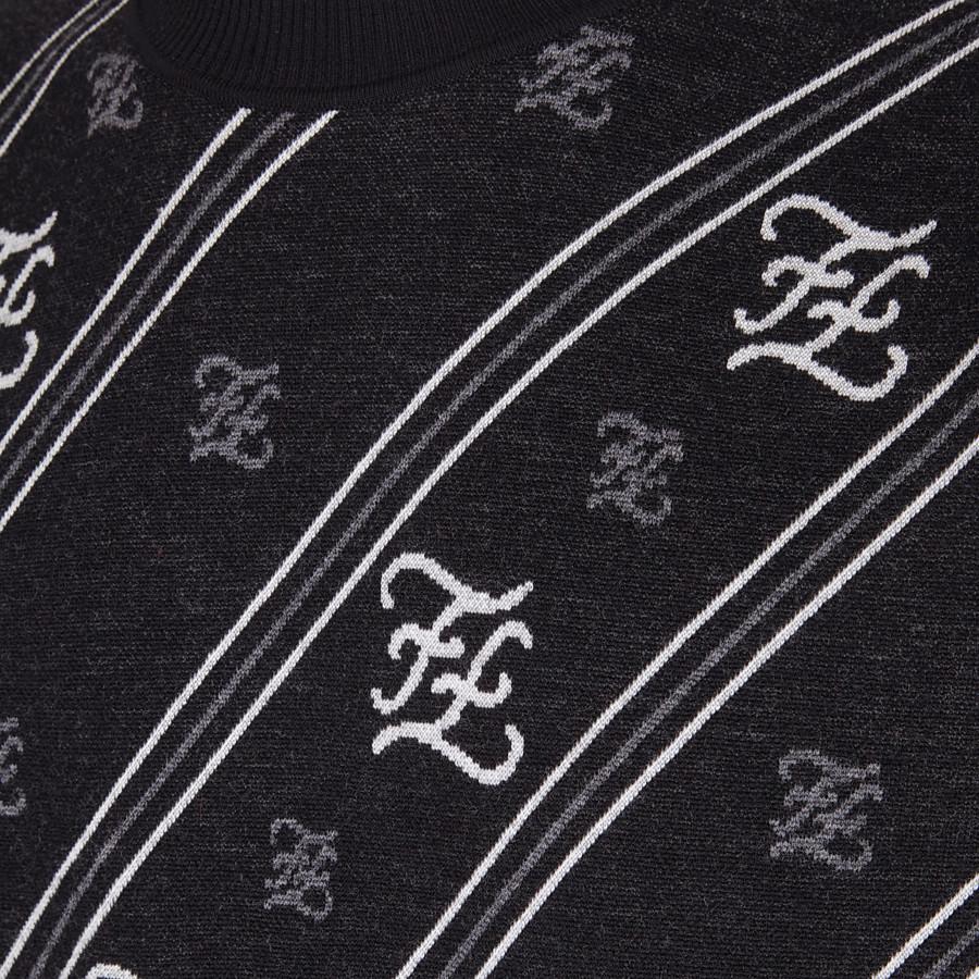 FENDI PULLOVER - Maglia in lana nera - vista 3 dettaglio