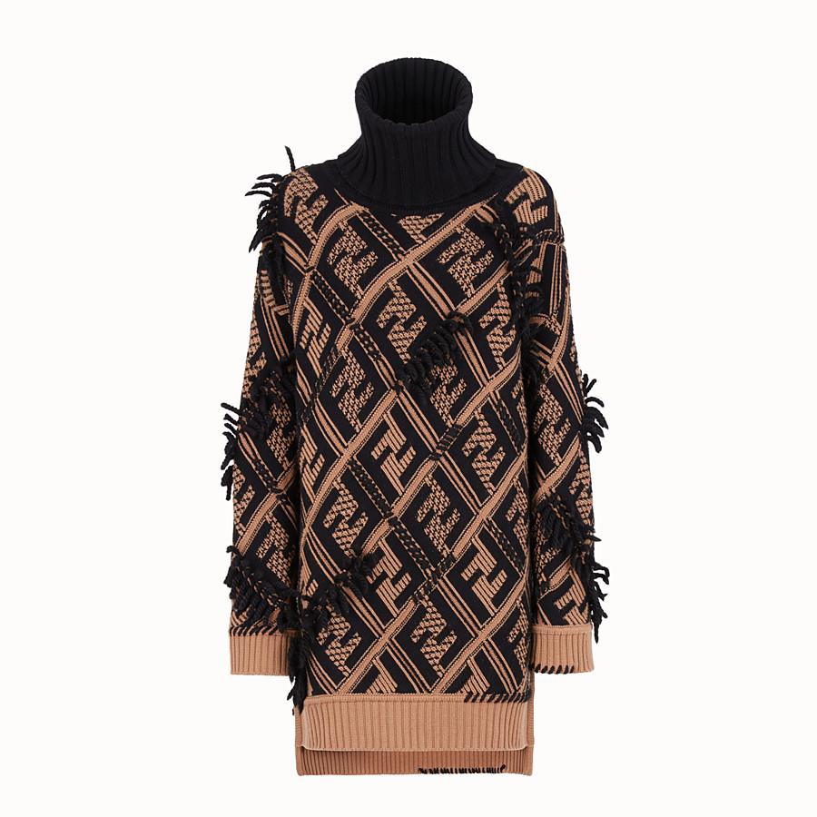 FENDI DRESS - Multicolour cashmere dress - view 1 detail