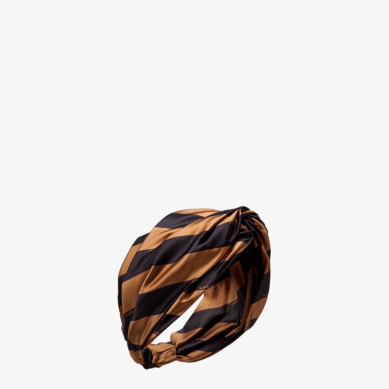 FENDI PEQUIN BAND - Brown silk headband - view 1 detail