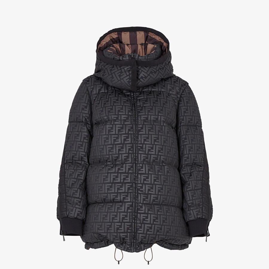FENDI SKI JACKET - Ski jacket in black nylon - view 1 detail