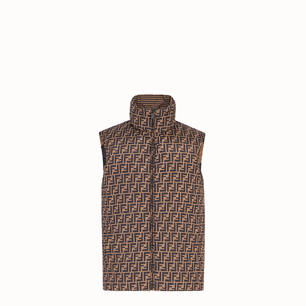 FENDI GILET - Brown nylon gilet - view 1 small thumbnail
