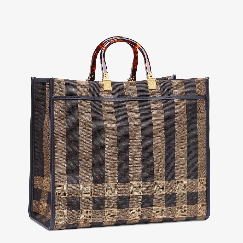 FENDI FENDI SUNSHINE LARGE - Shopper in brown fabric - view 3 detail