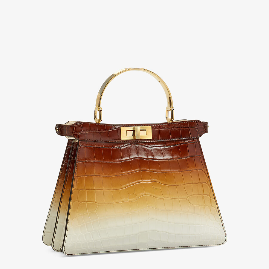 FENDI PEEKABOO ISEEU MEDIUM - Crocodile leather bag in three colors - view 3 detail