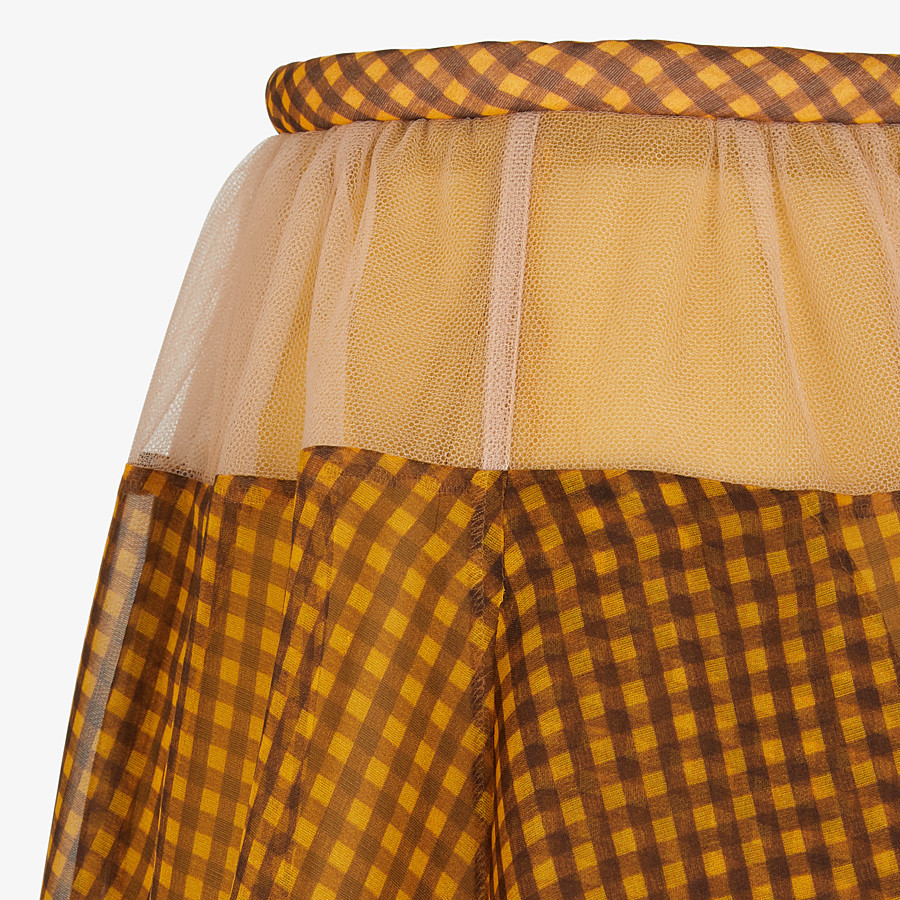 FENDI SKIRT - Organza Vichy skirt - view 3 detail