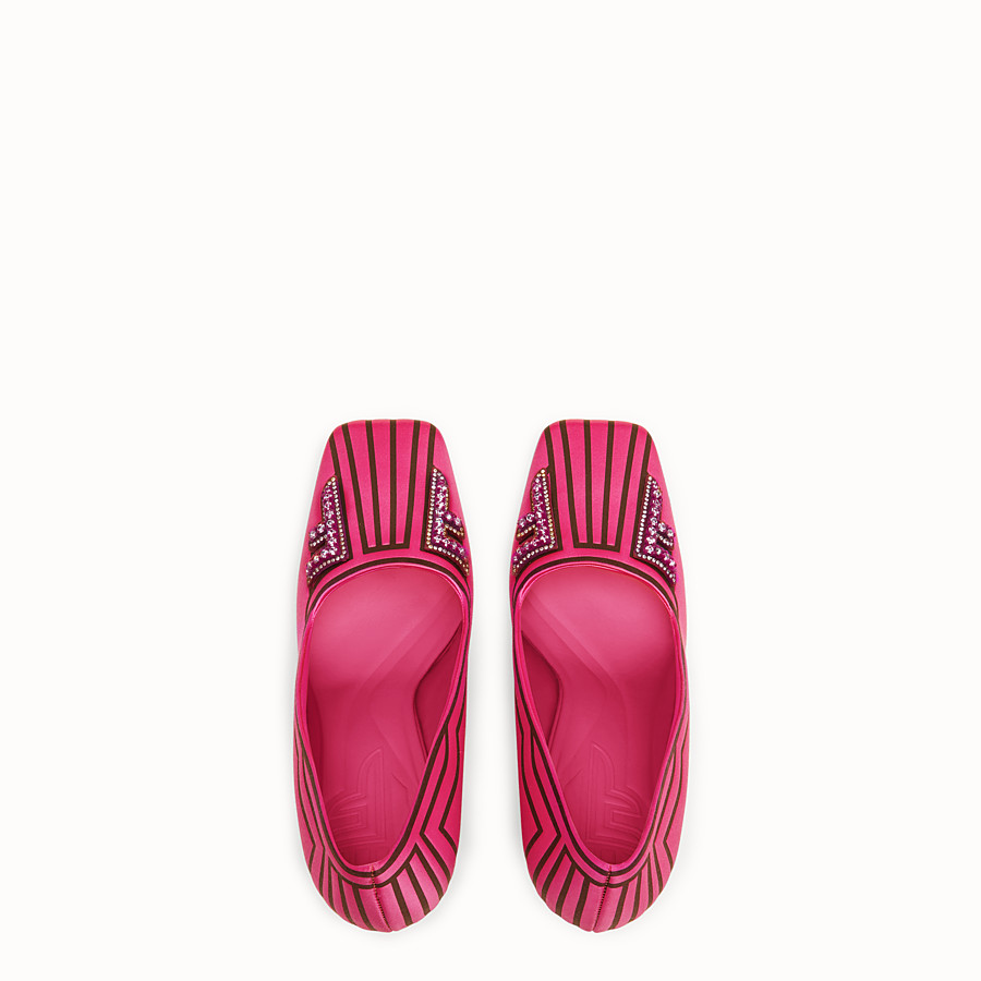 FENDI COURT SHOES - Court shoes in fuchsia satin - view 4 detail