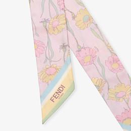 FENDI WRAPPY - Multicolour silk bandeau - view 2 thumbnail
