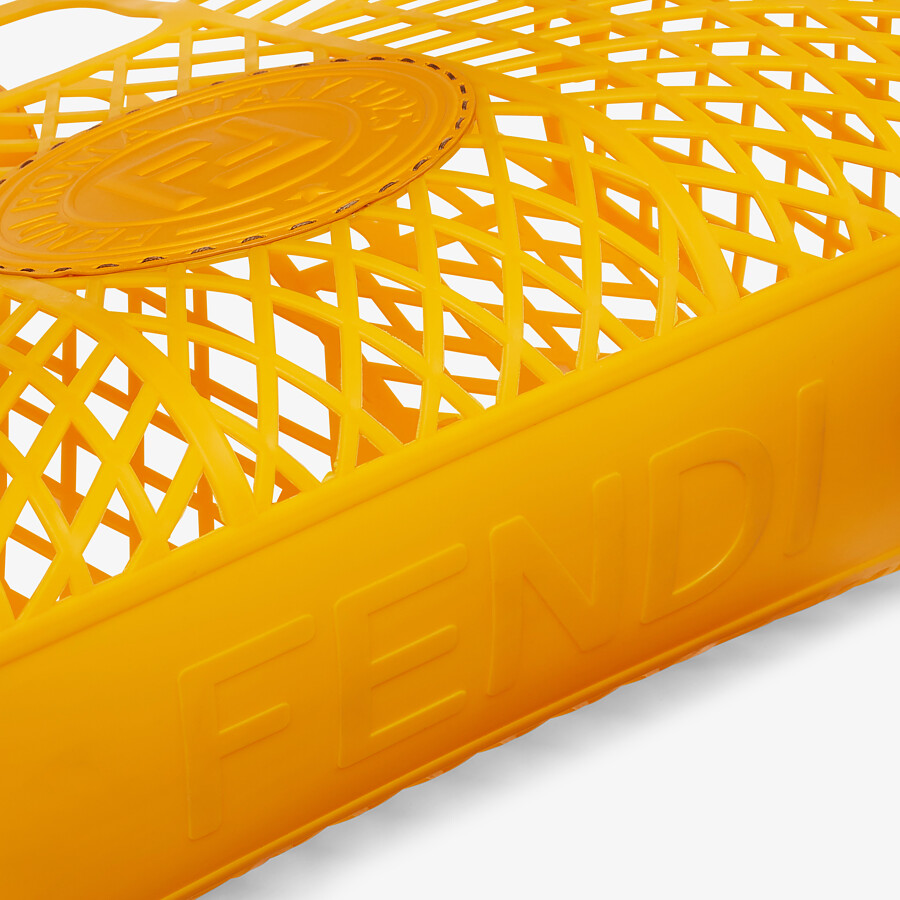 FENDI FENDI BASKET MEDIUM - Minibag in plastica riciclata arancione - vista 6 dettaglio