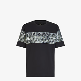 FENDI T-SHIRT - Black cotton T-shirt - view 1 thumbnail