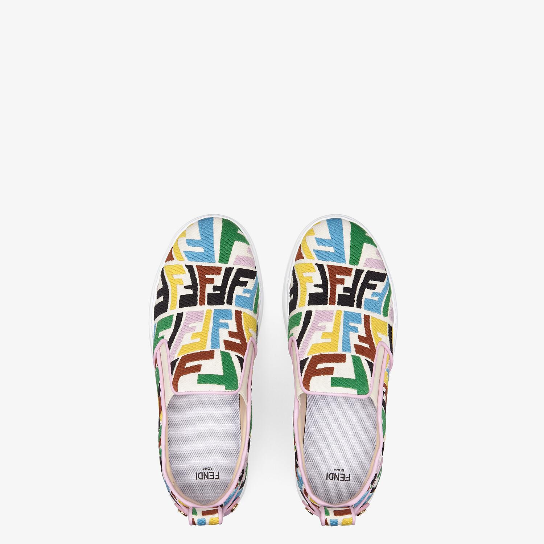 FENDI FENDI RISE - Multicolour canvas slip ons - view 4 detail