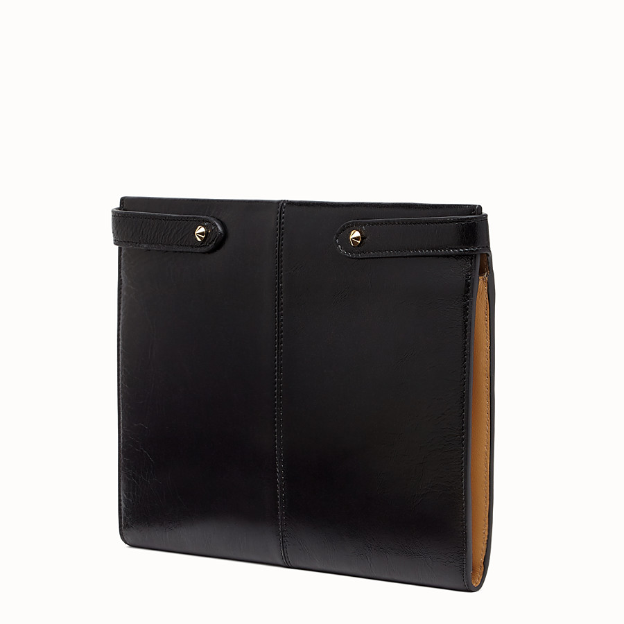 FENDI CLUTCH WALLET - Black leather clutch bag - view 3 detail