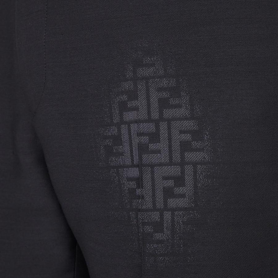 FENDI HOSE - Hose aus Wolle in Schwarz - view 3 detail