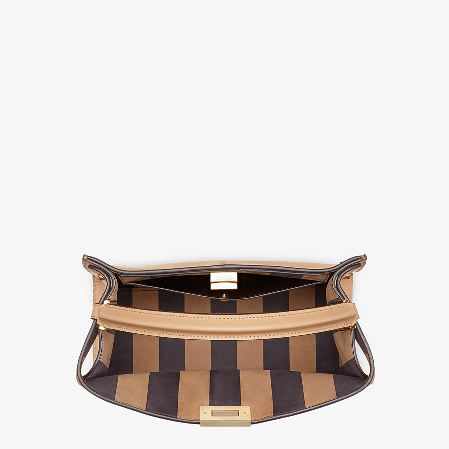 FENDI 中型款式 PEEKABOO X-LITE - 棕色皮革手袋 - view 5 detail