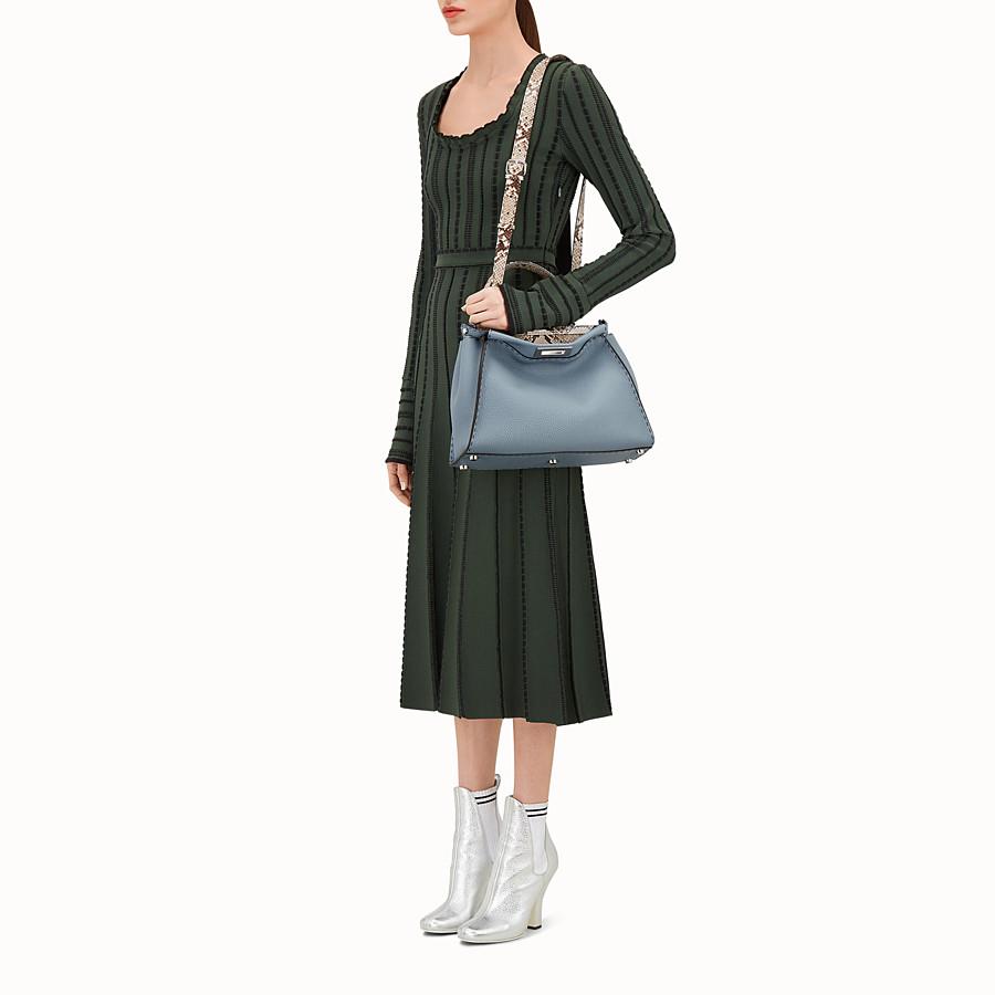 FENDI PEEKABOO REGULAR - Leather and python Selleria handbag - view 5 detail