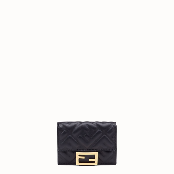 FENDI MICRO TRIFOLD - Black nappa leather wallet - view 1 small thumbnail