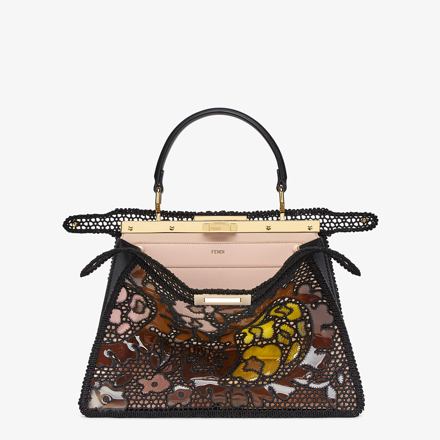FENDI MEDIUM PEEKABOO ISEEU - Black lace bag - view 3 detail