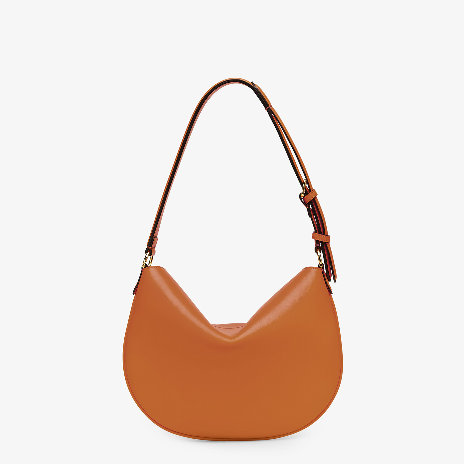 FENDI SMALL CROISSANT -  Brown leather bag - view 4 detail