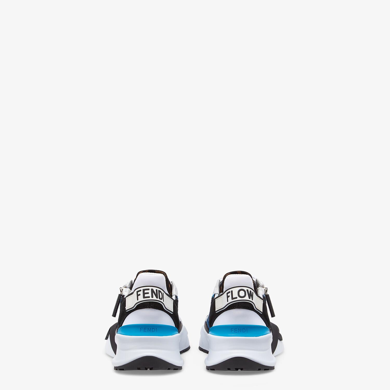 FENDI FENDI FLOW - Light blue nylon low tops - view 3 detail