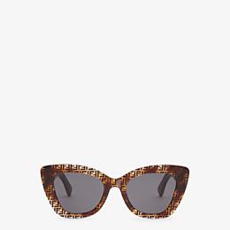 FENDI F IS FENDI - Havana FF sunglasses - view 1 thumbnail