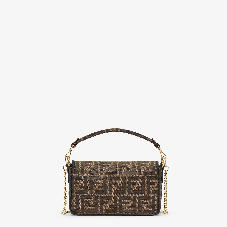 FENDI MINI BAGUETTE - Brown fabric bag - view 3 detail