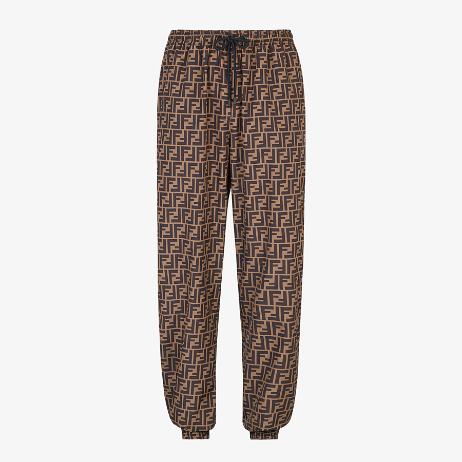 FENDI PANTS - Brown nylon pants - view 1 detail