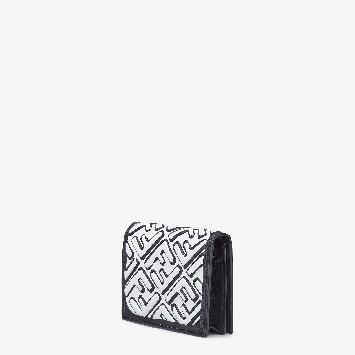 FENDI SMALL WALLET - White nappa leather wallet - view 2 detail