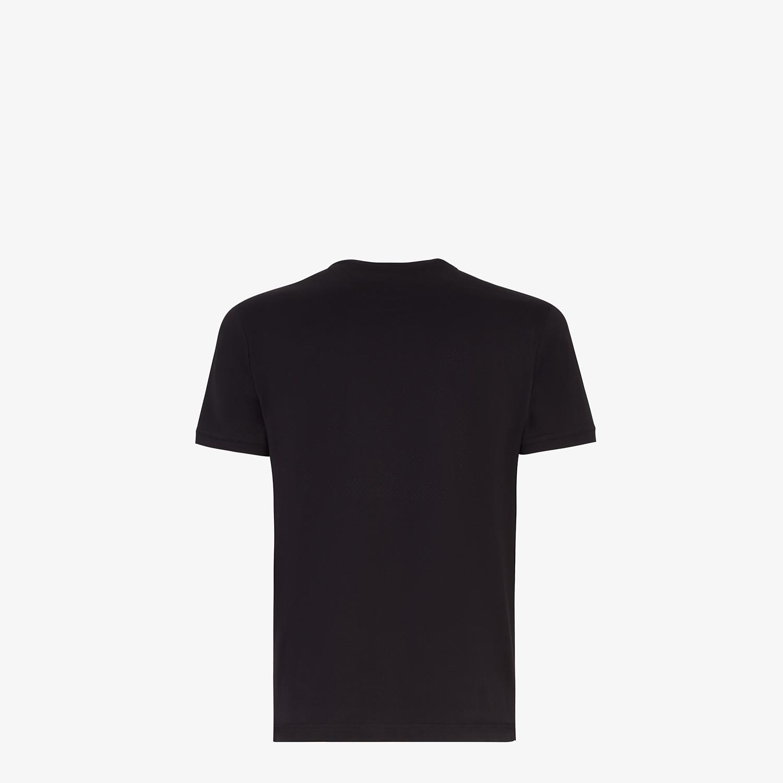 FENDI T-SHIRT - T-shirt Bag Bugs in cotone nero - vista 2 dettaglio