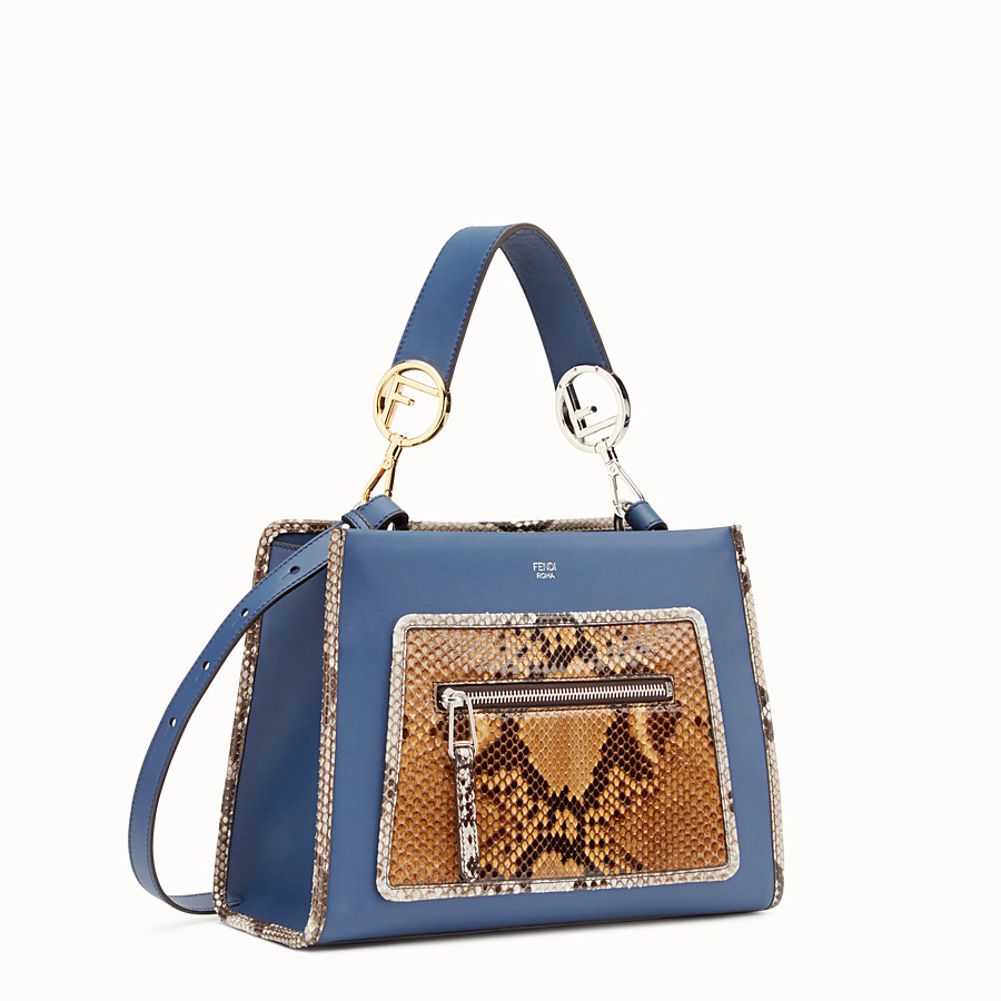 FENDI RUNAWAY SMALL - Exotic blue leather bag - view 2 detail
