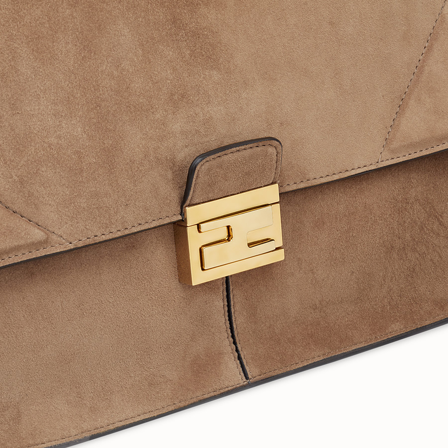 FENDI KAN U LARGE - Brown suede bag - view 6 detail