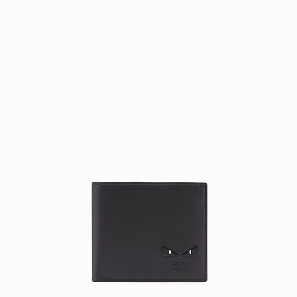 FENDI WALLET - Black leather bi-fold - view 1 small thumbnail