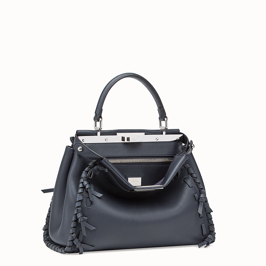 FENDI PEEKABOO REGULAR - Sac en cuir bleu - view 2 detail