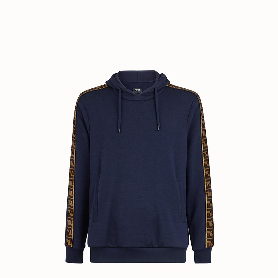 FENDI SWEATSHIRT - Blue wool and cotton Sweatshirt - view 1 detail