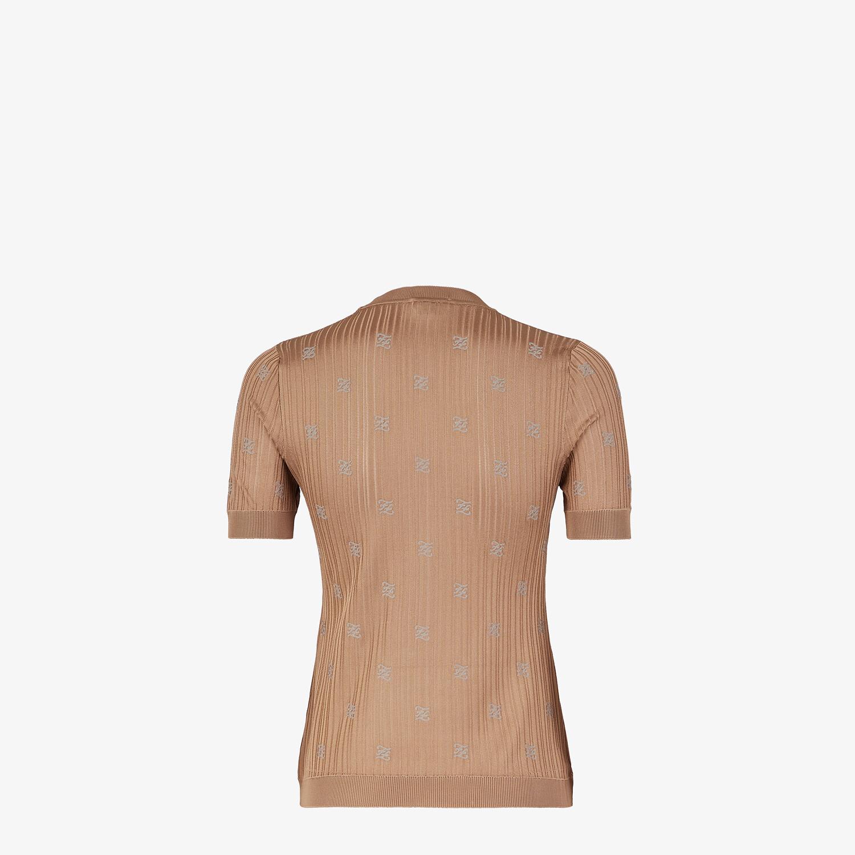 FENDI SWEATER - Brown viscose sweater - view 2 detail
