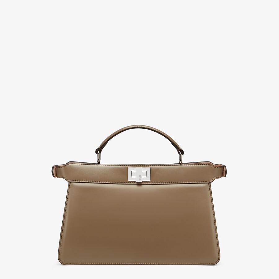 FENDI PEEKABOO ISEEU EAST-WEST - Gray leather bag - view 3 detail