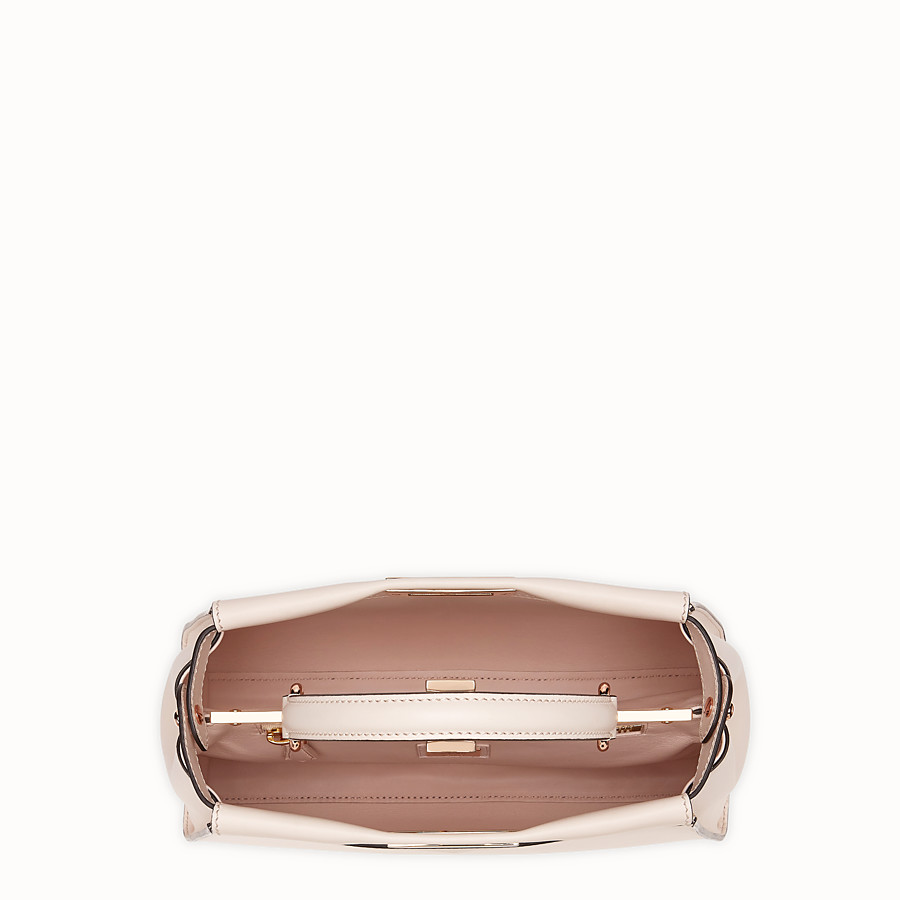 FENDI PEEKABOO ICONIC MEDIUM - Pink leather bag - view 4 detail