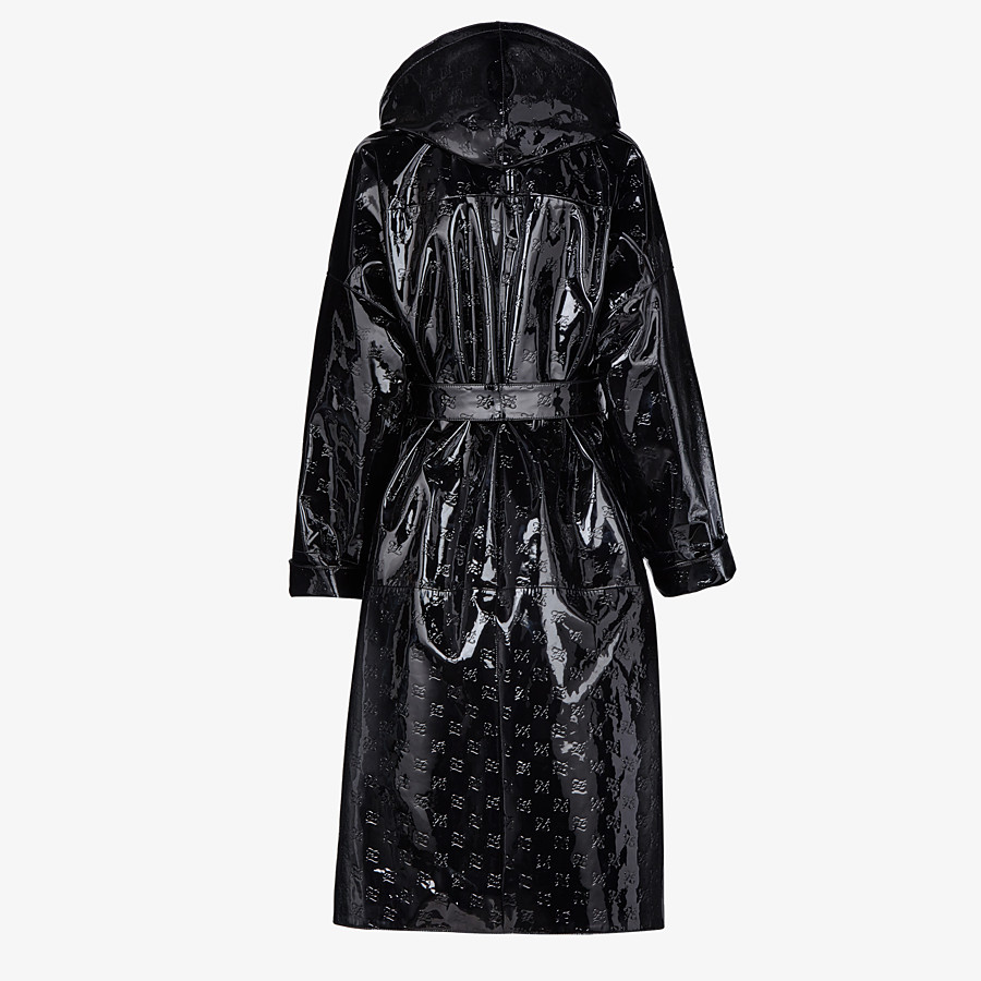 FENDI OVERCOAT - Parka in black patent leather - view 2 detail