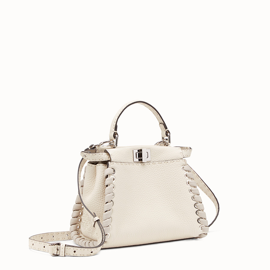 FENDI PEEKABOO MINI - White leather bag - view 2 detail