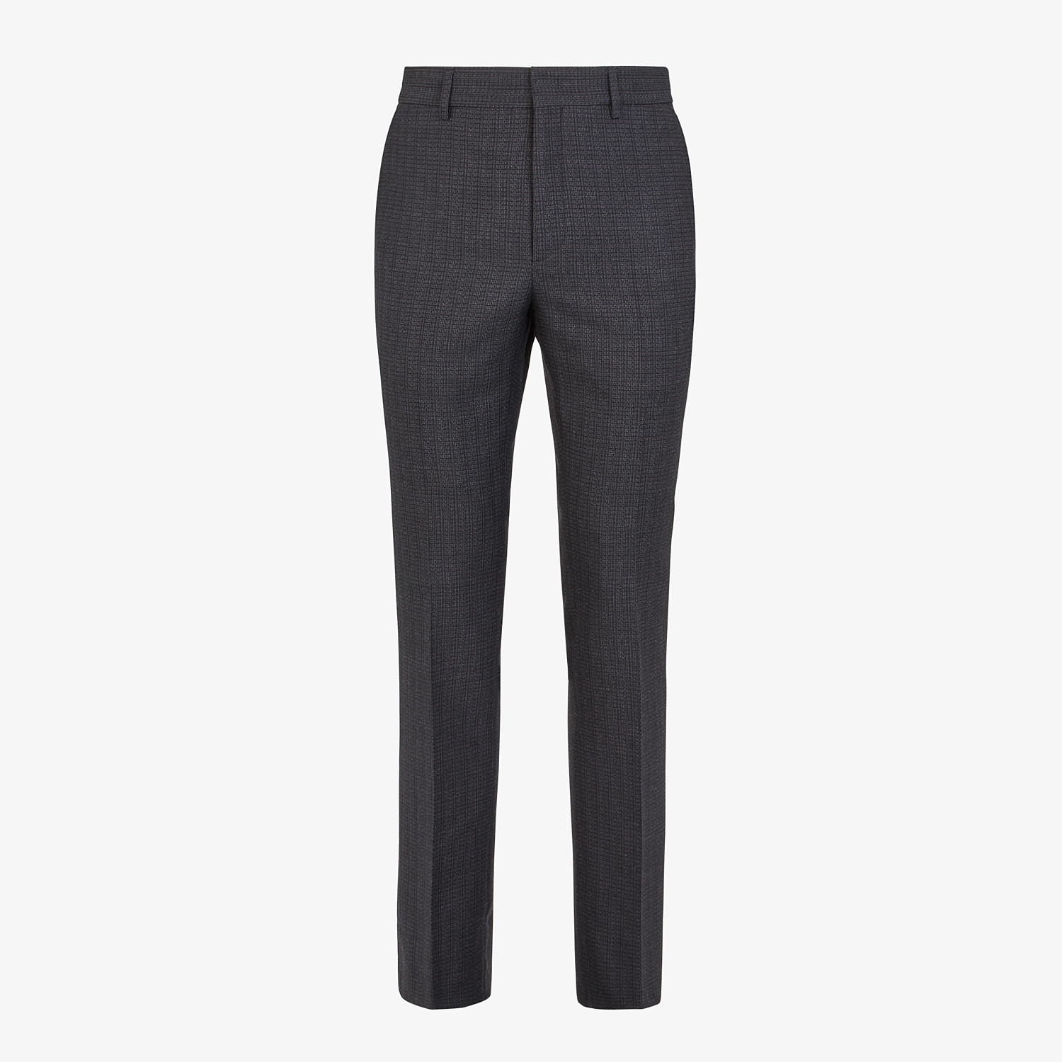 FENDI PANTS - Pants in black cotton, silk and wool - view 1 detail
