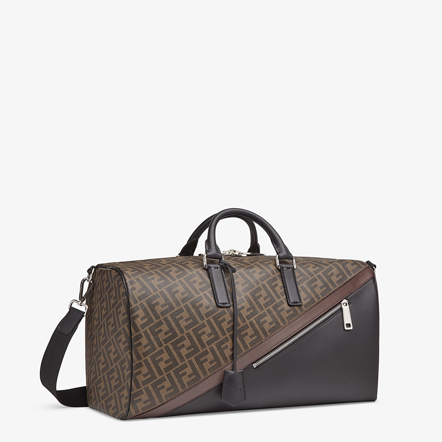FENDI MEDIUM DUFFLE - Large brown fabric bag - view 2 detail
