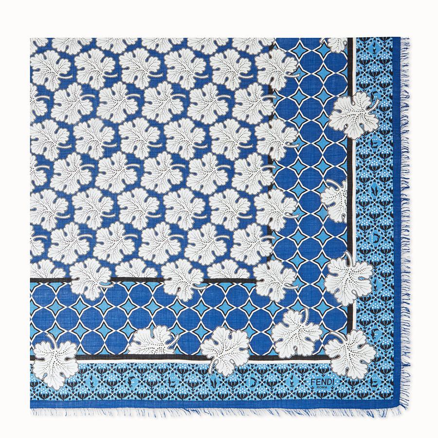 FENDI SCIALLE FENDI HERITAGE - Scialle in seta e lana multicolor - vista 2 dettaglio