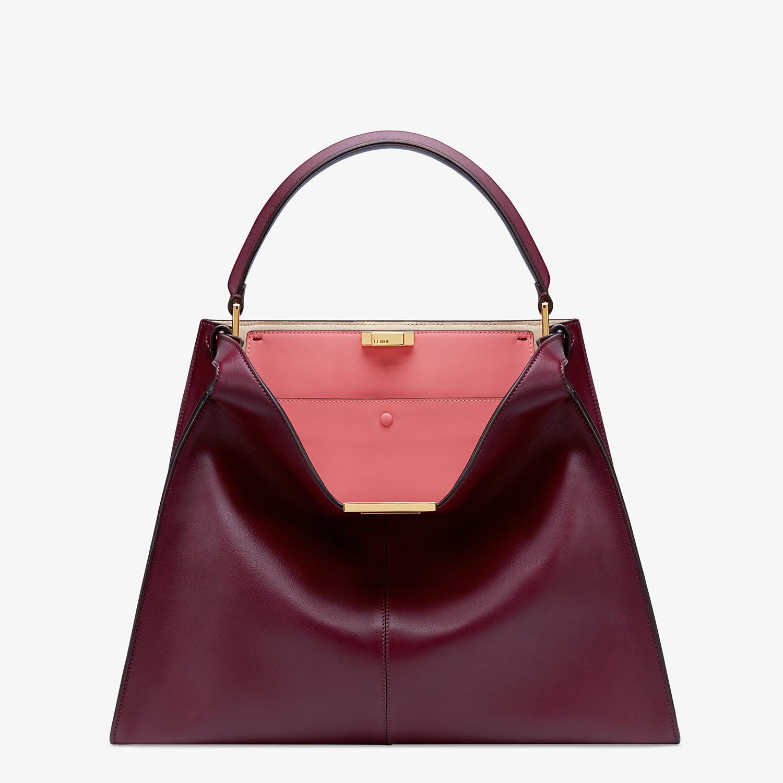 FENDI PEEKABOO X-LITE LARGE - Burgundy leather bag - view 3 detail