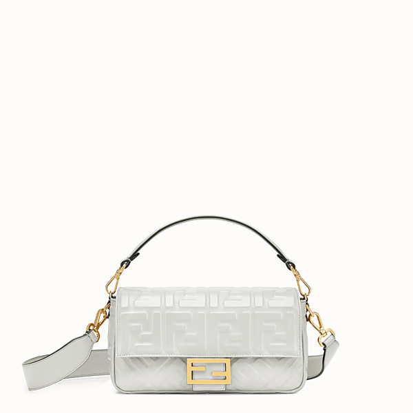 FENDI BAGUETTE - White leather bag - view 1 small thumbnail