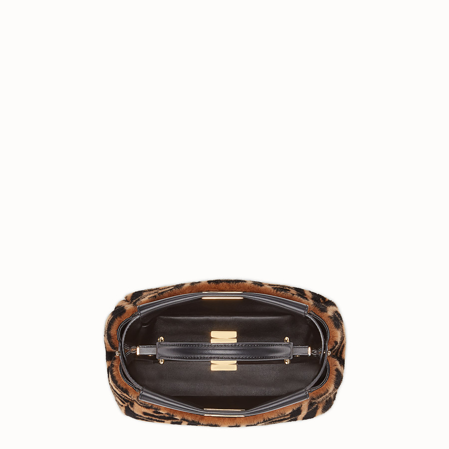FENDI PEEKABOO ICONIC MINI - Brown sheepskin bag - view 4 detail