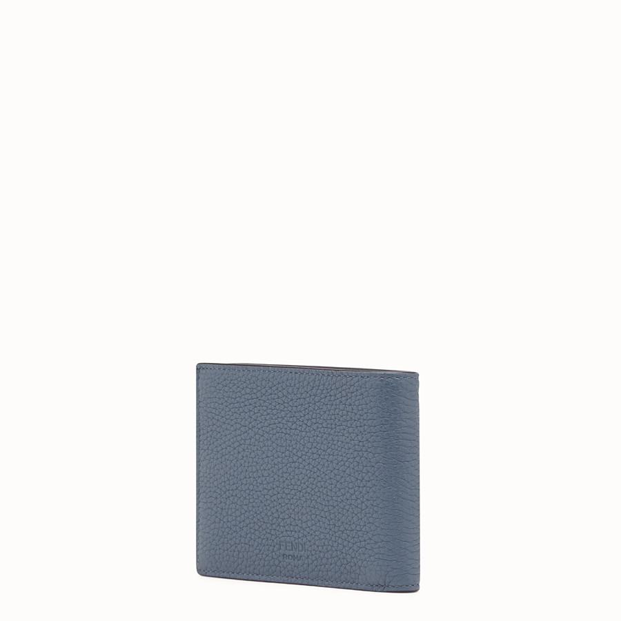 FENDI WALLET - Gray Romano leather bi-fold wallet - view 2 detail