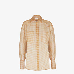 FENDI SHIRT - Check organza blouse - view 1 thumbnail