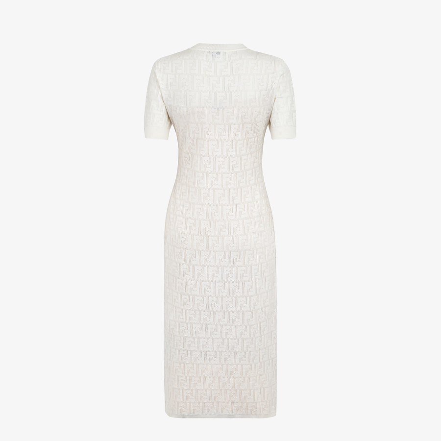FENDI DRESS - White cotton dress - view 2 detail