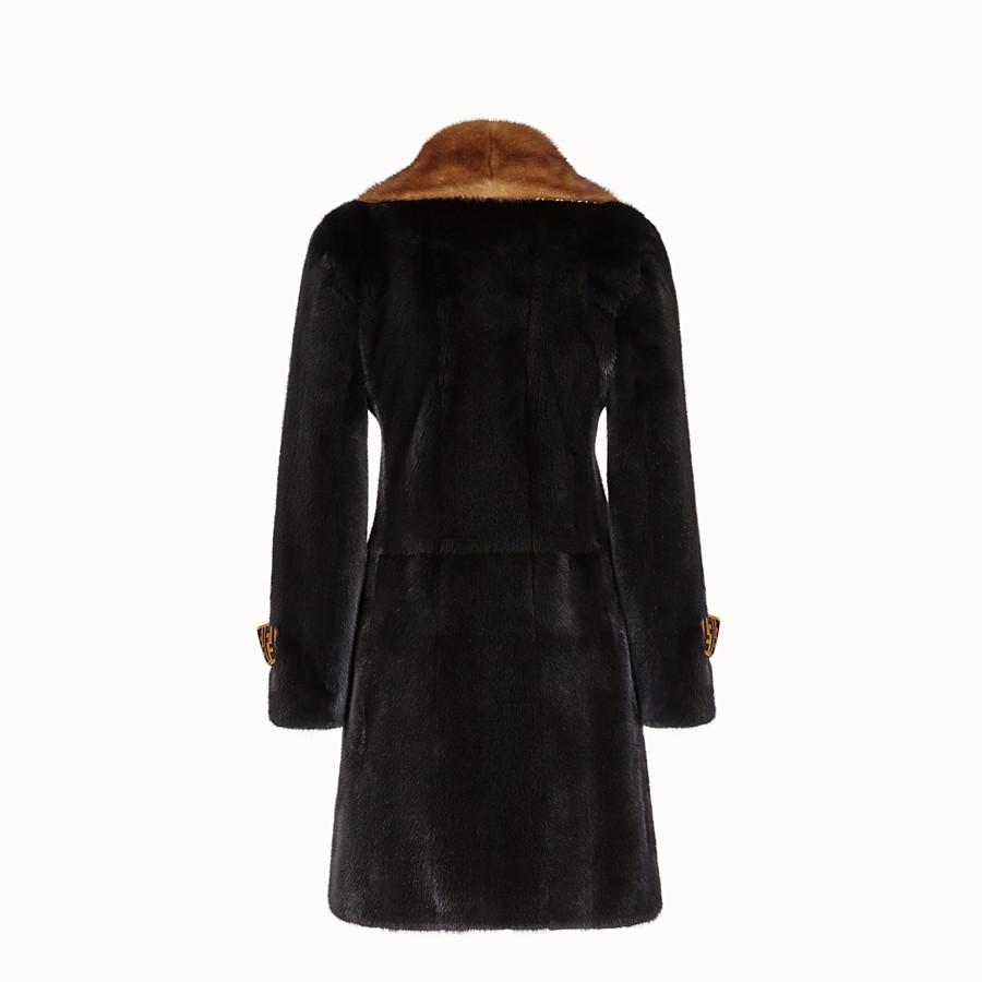 FENDI COAT - Multicolour fur coat - view 2 detail