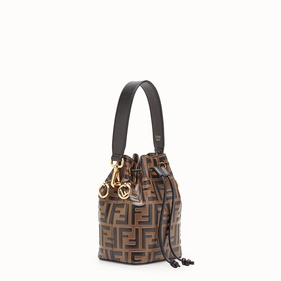 b9a5c7f893f7 Brown leather mini-bag - MON TRESOR